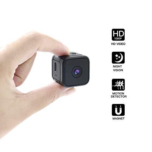 UYIKOO Mini Spy Camera 120 Gradi Telecamera Nascosta HD Microcamere Spia 1080P Telecamera Portatile con Motion Detective e Night Vision per Home Office Sorveglianza Nanny Cam Support 32GB Max SD Card