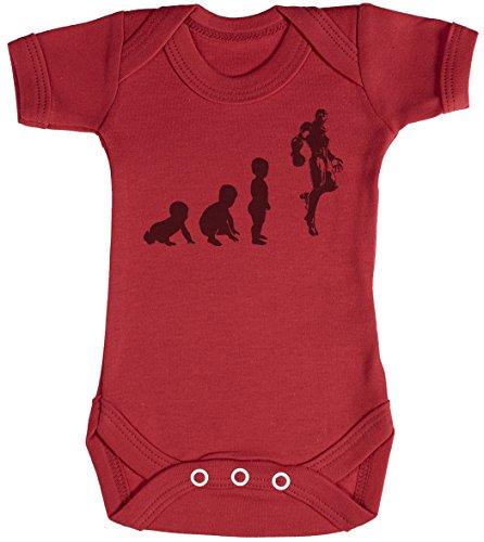 Baby Evolution to A Iron Man Baby Strampler - Baby Body - Baby Body Geschenkset - 0-3 Monate Rot