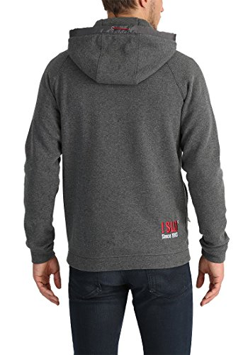 SOLID BenjiHood Herren Kapuzenpullover Hoodie Sweatshirt aus hochwertiger Baumwollmischung Med Grey (8254)