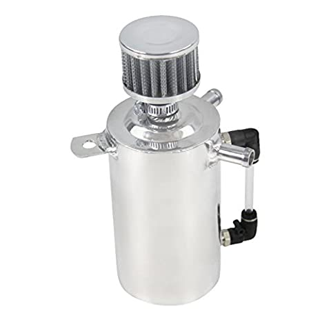 Primecooling 0.5L OIL BREATHER TANK OIL CATCH CAN RESERVOIR + SILVER STAINLESS FILTER