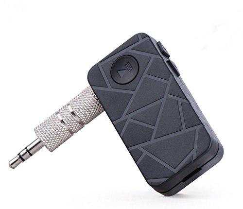 Amp Auto Stereo-bluetooth (Mehrpunkt-Verbindung 4.1Bluetooth Audio Musik Empfänger A2DP Wireless Adapter mit 3,5mm Aux-Anschluss und Freisprecheinrichtung für iPhone Samsung Android, Kopfhörer, Lautsprecher, Auto & Home Stereo etc.)