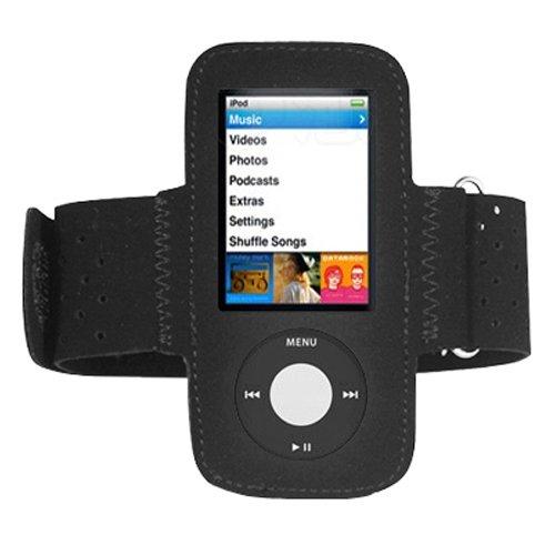 DIGIFLEX Schwarzes Sport- und Jogging-Armband für neuen Apple iPod Nano 5. Generation 5G (mit Videokamera) 8 GB & 16 GB (Ipod Nano 5 16)