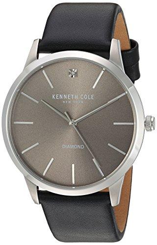 kenneth-cole-new-york-men-s-diamante-al-quarzo-in-acciaio-inox-e-pelle-orologio-da-donna-colore-nero