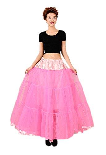 öchellänge Vintage Rockabilly Petticoat Retro Ballett Tutu Reifrock Unterrock Underskirt Braut Party Hochzeit HALLOWEEN FASCHING KARNEVAL Rosa One Size (Schnelle Und Einfache Last-minute-halloween-kostüme)