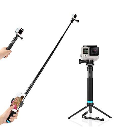 FEIMUOSI Selfiestick, Einstellbare Erweiterung Selfie Pole mit