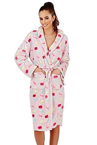 Femmes Loungeable Macaron Combinaison Ou Robes De Chambre De Luxe Pour Femmes Pyjama - Lilas - Longue Robe, Taille S - EU 36-38