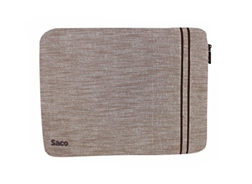 Saco Laptop Notebook Sleeve Bag Zipper Case with accessories adapter pocket for Samsung NP300E5X-A0BINLaptop - 15.6 inch - Brown  available at amazon for Rs.611
