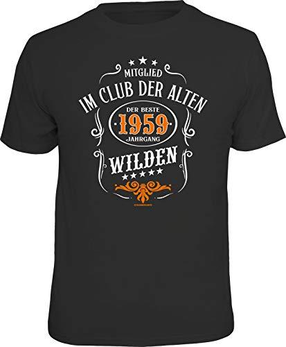 RAHMENLOS Original Geschenk T-Shirt zum 60. Geburtstag: Mitglied im Club der Alten Wilden, Baujahr L