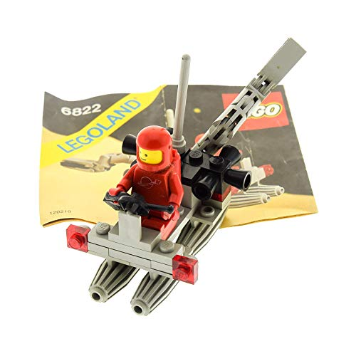 1 x Lego System Teile Set für Nr. 6822 Classic Space Space Digger Raumschiff 1 x Figur Rot grau Bauanleitung Incomplete unvollständig (Lego System Classic-sets)