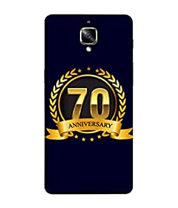 OnePlus 3T, OnePlus ThreeT, One Plus 3T Back Cover 70th Aniversary Golden Logo Design From FUSON