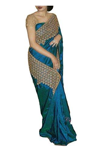 Shivalika Tex Women's Silk Saree With Blouse Piece (1799, Blue, Free Size)