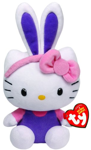 TY-40984-Hello-Kitty-Baby-Hasenohren-Beanie-Babies-Ostern-15-cm-violett