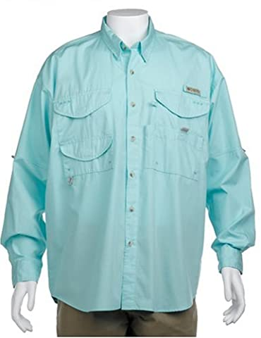 Columbia Men's Long Sleeve Shirt Pêche Bonehead (Gulf Stream, 2X)