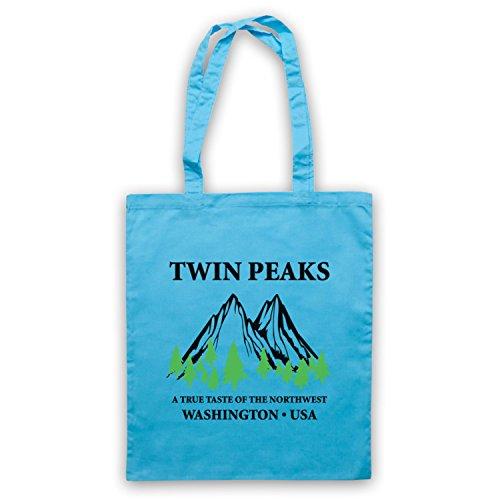 Inspiriert durch Twin Peaks Welcome Sign Inoffiziell Umhangetaschen Hellblau