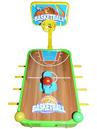 Spielzeug Spieler Tisch, A140B, 5in1 Set mit Kickertisch, Fußball, Basketball, Golf, Eishockey, Billard, Geschenk-idee für Jungen und Mädchen für Weihnachten und zum Geburtstag, Geburtstags-Geschenk