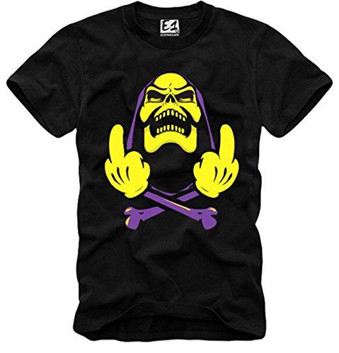 Skeletor Middle Finger Funny Horror T-shirt for Men