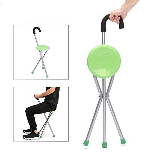 Preisvergleich Produktbild LaDicha Camping Faltung Stativ Stock Walking Stock Seat Portable Hocker Stuhl Max Lasttragende 130Kg