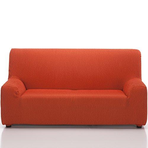 Jarrous Funda de Sofá Elástica Modelo ARUCAS, Color Naranja C/7, Medida 3 Plazas · 180-240cm