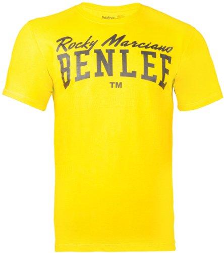 BENLEE Rocky Marciano Herren T-Shirt Trägerhemd Promo Shortsleeve Logo, Gelb, M, 195041 (Short Sleeve Shirt Jake)