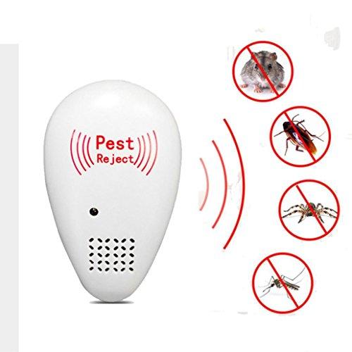Trada Elektronische Moskito Mörder Mückenabwehr, Ultraschall Schädlingsabweisungs-elektronischer magnetischer Repeller-Antimoskito-Insekten-Ausschuss Pest Repeller Insektenvernichter (Weiß)