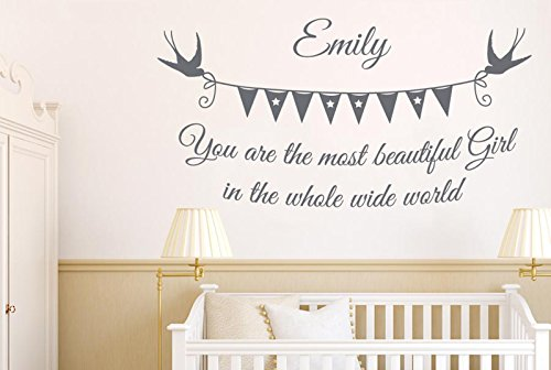 personalizado-most-beautiful-girl-wide-world-vinilo-pegatinas-de-pared-decorativo