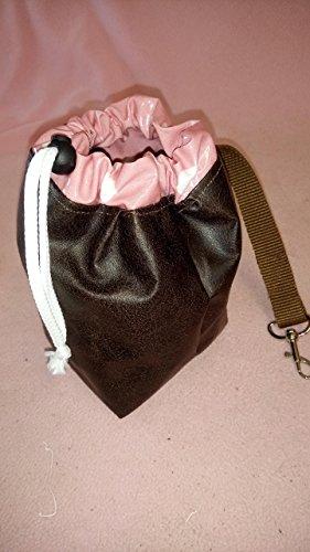 Hunde - Leckerli-Beutel*Futtertasche mit Karabiner/Gurtband - Leder/Beschichtete Baumwolle - drei Farben
