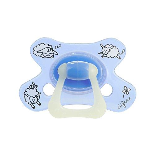 Difrax chupetes GL800, Dental, además de 6 meses, azul