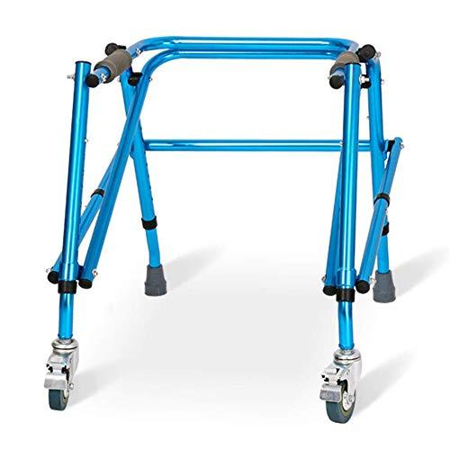 LPsweet Folding Rollator Walker, Leichte Aluminium-Laufgestell, Ältere Walker Tragbare Anti-Rutsch-Tropfen-Proof Walker, Fit Meisten Rollator Oder Folding Walker