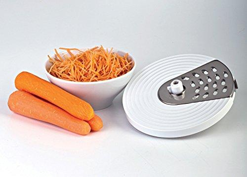miglior prezzo Ariete 1779 Robomix Metal – Robot da cucina multifunzione, Capacità tazza 2,1L, Set accessori per tritare, affettare, montare, impastare, emulsionare, Blender 1,75L, Bianco/Argento