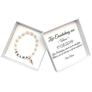 Geschenk Einschulung Mädchen, Schulkind Armband, Namensarmband, Geschenkbox Schulanfang, Einschulungsgeschenk