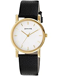 Sonata Analog White Dial Men's Watch -NJ7987YL02W