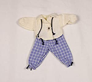 Puppenmode Sturm 8882-M - Pantalón de Lino con Camisa para muñecas, Color Azul