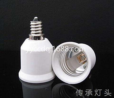 Yiwa convertisseur de douille d'ampoule résistant à la chaleur Aucun risque d'incendie E12vers E26adaptateur