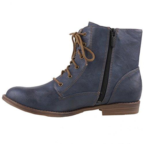 Mustang bottines pour femme bleu Bleu - Blau (800 Dunkelblau)