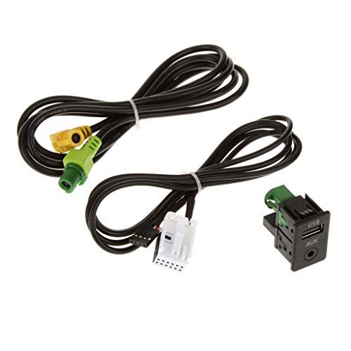 KESOTO Aux Switch & USB Fil Adaptateur De Câble pour BMW 3 5 Series E87 E90 E91 E92 X5 X6