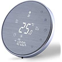 Termostato Digital Wifi para Calefacción de la Caldera de Gas/Agua Funciona-Termostato Inteligente Programable Compatible con Alexa Google Home IFTTT,Controlador de Temperatura 5A,220v