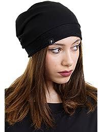 3Elfen Berretto Jersey merletto bordo tagliente Beanie - Cappello Hat de Donna  bambina - Made in 8c5057e6f34e
