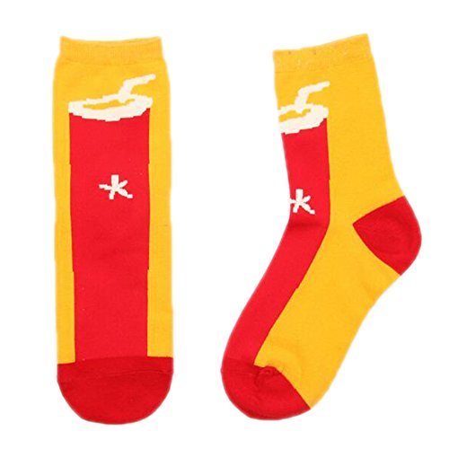 Sanwood Crew Socks Food Pattern Medium Sock Hosiery