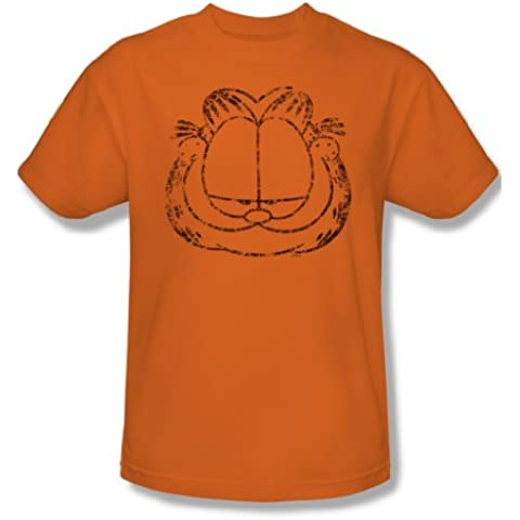 Garfield - - Lamentando Sonriendo Adultas - Heather manga corta T-shirt para hombres