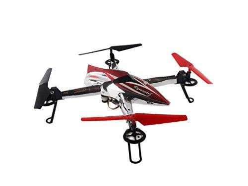LHFJ RC Drone Q212 avec Caméra Vidéo en Direct 720 HD 5.8G WiFi FPV Quadcopter RC Hélicoptère avec Réglage Automatique De Hauteur Un Retour De Clé -Red LHFJ
