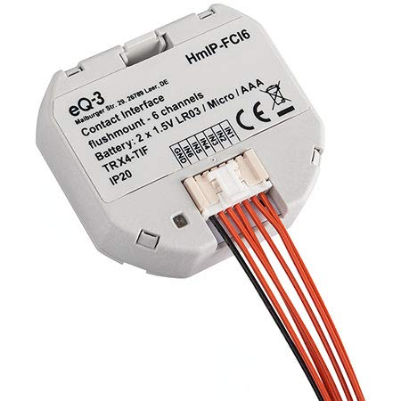 ELV Homematic IP Kontakt-Schnittstelle Unterputz - 6-Fach HmIP-FCI6, Komplettbausatz