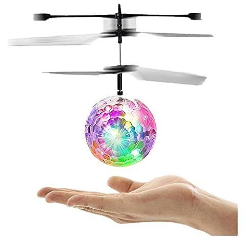 Frashing To Have Fun !!! Fliegen RC elektrische Kugel LED blinkt Licht Flugzeug Hubschrauber Induktion Spielzeug Puzzle (Bagger Kostüm Diy)