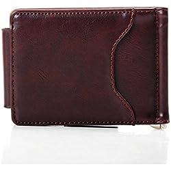 LHWY Cuero Ultra Fino Mini-cartera, de cuero, 11*7.5*1.5cm (Marrón)