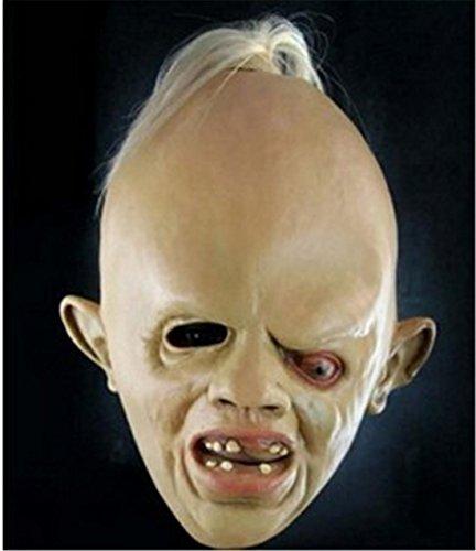 Erwachsene Kostüme Leatherface Scary (JJH-ENTER Masken Neuheit Latex Gummi Gruselig Grausigkeit Faultier Kopf Masken Gesicht Schrecklich Für Halloween)