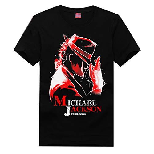 XXW Michael Jackson Kurzarm Michael Jackson Gedenk T-Shirt Pop (Michael Jackson Womens Kostüm)