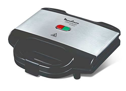 Moulinex SM156D Ultracompact Metal Sandwich Maker, Piastre con Rivestimento Antiaderente