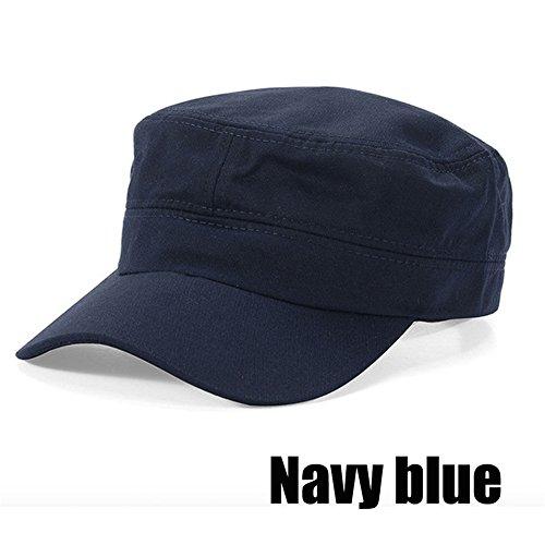 Interesting®Unisex Männer Frauen Klassische Adjustable Armee Plain Hat Cadet Military Baseball-Sport-Cap