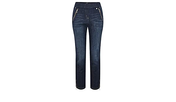 8e6c84a483b5 Robell Trousers - Nena Ankle Zip Cropped Jeans, Navy: Amazon.co.uk: Clothing