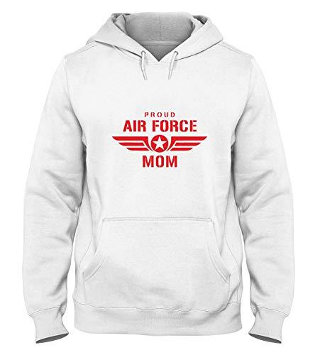T-Shirtshock Kapuzen-Sweatshirt fur Mann Weiss WTC0741 Proud air Force mom w pink Air Force Mom Sweatshirt