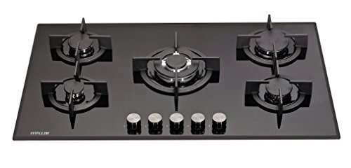 millar-gh9051pb-90cm-built-in-5-burner-gas-on-glass-hob-cooker-cooktop-with-ffd